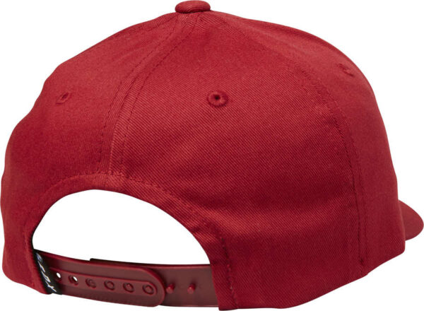 CZAPKA Z DASZKIEM FOX JUNIOR EPICYCLE 110 SNAPBACK Bordowa tyl