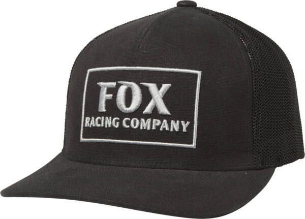 CZAPKA Z DASZKIEM FOX HEATER SNAPBACK Czarne przod