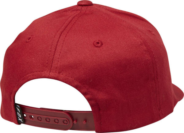 CZAPKA Z DASZKIEM FOX JUNIOR HELLION 110 SNAPBACK Bordowa tyl