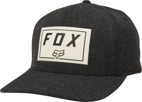 CZAPKA Z DASZKIEM FOX TRACE FLEXFIT Czarna przod