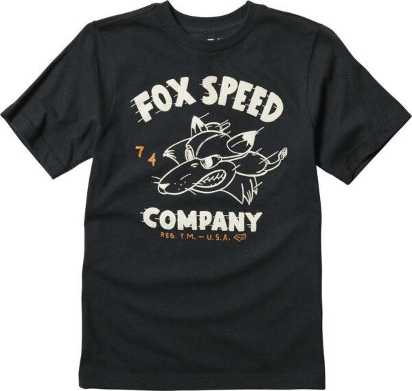 T-SHIRT FOX JUNIOR BOMBER Czarny przod